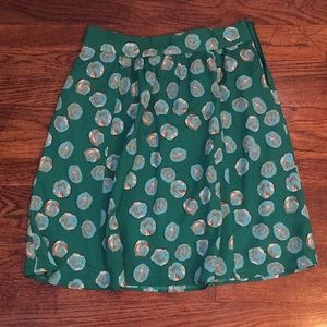 The Limited green printed skirt